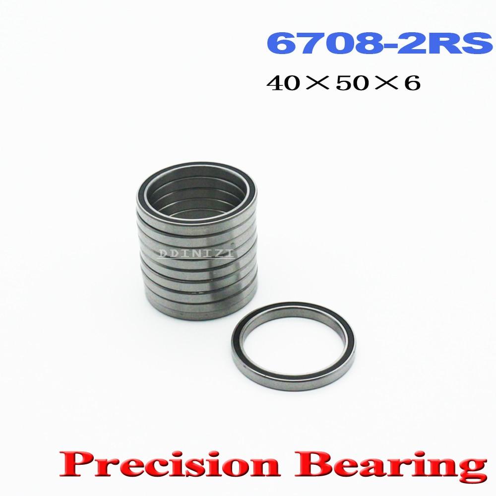 6708 2RS تحمل 40*50*6mm ABEC-1 ضئيلة رقيقة القسم 61708RS 6708 RS الكرات 6708RS (4 قطعة)
