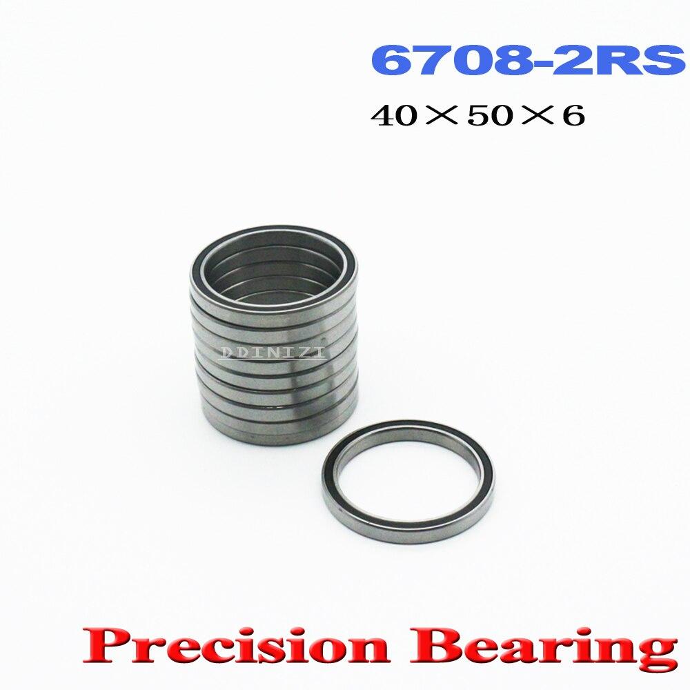 6708 2RS Подшипник 40*50*6 мм ABEC-1 тонкая секция 61708RS 6708 RS шариковые подшипники 6708RS (4 шт.)
