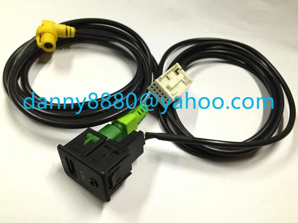 Кабель 2 в 1 USB AUX для RCD510 RNS510 RNS315 RCD500 RNS300 RCD300 RCD200 GOLF MK6 JETTA MK5 Sagitar Vento
