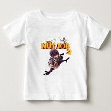 Chłopiec/dziewczynka kreskówka koszulka film nakrętka praca 2 koszulka z krótkim rękawem dla dzieci czysta bawełna uroczy top ubrania dla dzieci zabawna koszulka 2-10Y NN