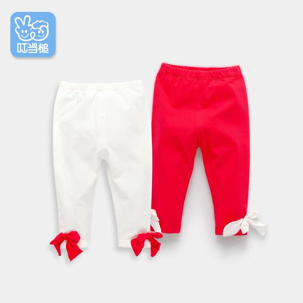 Dinstry 2018 nowa wiosna bowknot baby girl spodnie spodnie leginsy dla niemowląt 0-2Y kids