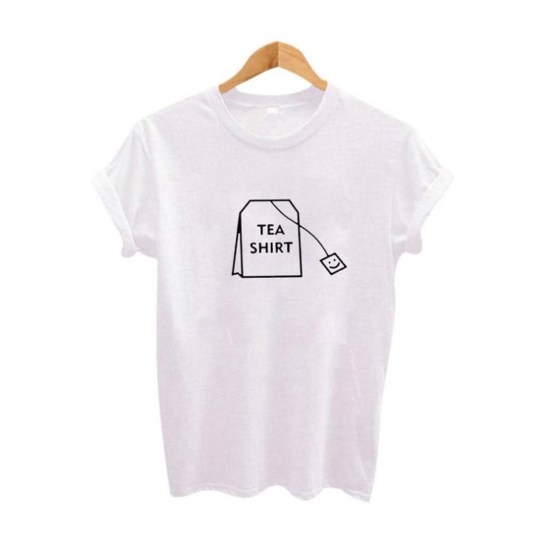 Camiseta de té de Humor, camisetas gráficas, ropa de mujer, camisetas divertidas de verano 2019, camiseta hípster Harajuku Tumblr para mujer, camiseta de talla grande XS-4XL