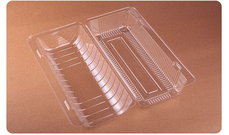 100 pcs Clear Plastic Cake package boxes Bakery cookie Food container Baking pastry cookie packing box