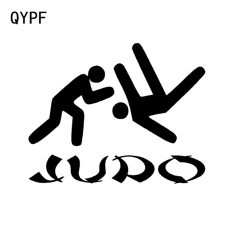 QYPF 13,5*10,7 CM decoración única Judo adhesivo gráfico para coche silueta reflectante accesorios de vinilo C16-0363