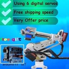 Bras robotique Arduino 6 DOF entièrement assemblé, servo numérique de qualité complète, livraison gratuite