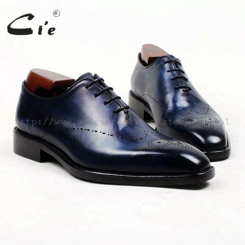 حذاء جلد أصلي للرجال مصنوع يدويًا من cie ، حذاء بمقدمة مربعة ، اكسسوار من جلد العجل