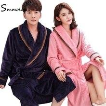 Smmoloa velours peignoir Kimono Robe Couple velours robes de demoiselle dhonneur nouvelles Robes Sexy