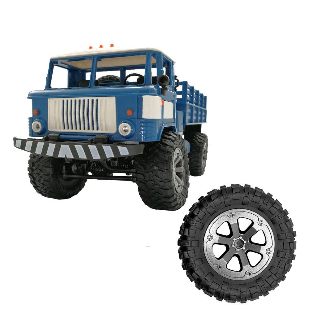 Neumático de goma RC, neumáticos de automóvil carreras en carretera, llanta para WPL B-1 B-14, neumático grande de C-24, diámetro de pieza de coche RC 73,3*33,8mm/2,88 pulgadas