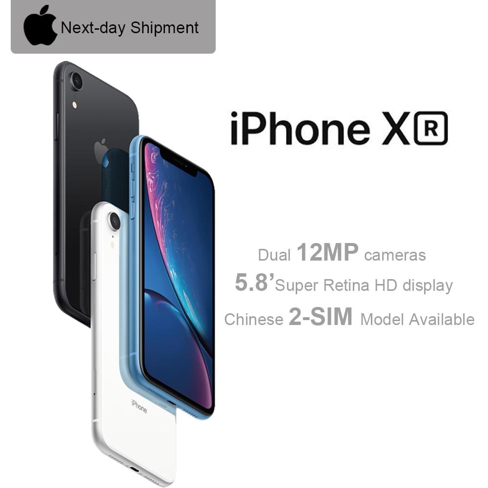 Перейти на Алиэкспресс и купить Оригинальный Apple iPhone XR, 6,1-дюймовый жидкий сетчатый экран, 4G, LTE, лицевая камера 12 МП, Bluetooth, IP67, водонепроницаемый, для улицы