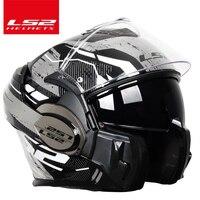 2018 Valiant LS2 FF399 full face motorcycle helmet flip up dual visor authentic wear glasses design ECE cascos de motos NEW MODE