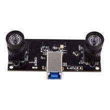 Gesicht Anerkennung Nicht Verzerrung Dual Objektiv USB3.0 Kamera Modul Synchronisation 960P UVC Plug Play Fahrer 3D VR Stereo Webcam