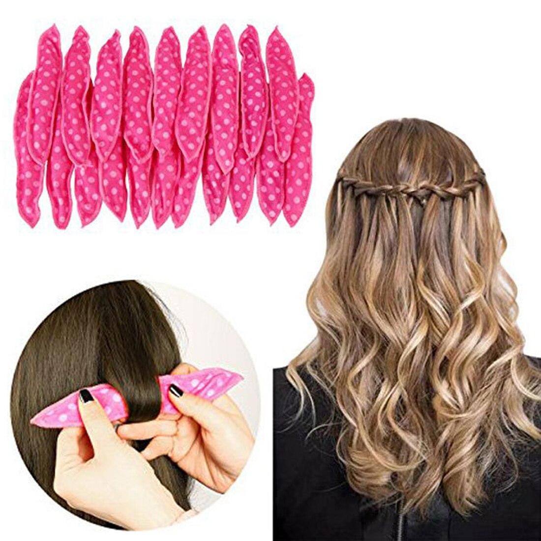 Bonito coelho orelha mágica esponja travesseiro macio rolo de cabelo melhor espuma flexível esponja rolos de cabelo diy estilo rolos de cabelo 6 pçs/set