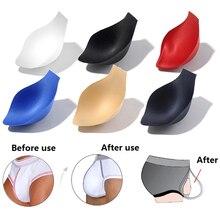 1PC  Swimwear Enhancer Underwear Cup Briefs Shorts Jockstrap Bulge Pad Cup Insert For Men Soft Spong