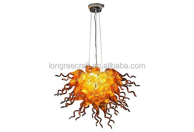 Lámparas de cristal de Arte Moderno, lámparas de araña de cristal sopladas hechas a mano 100% decoración de cafetería y Bar de tamaño pequeño