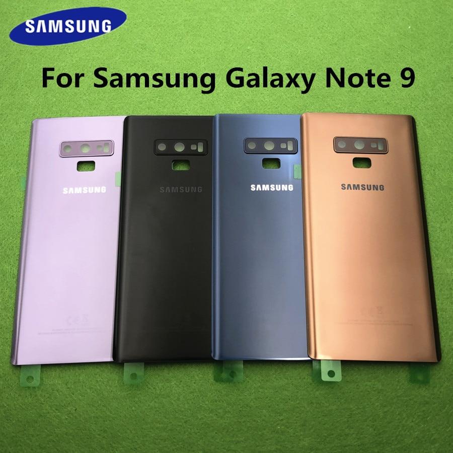 Original para Samsung Galaxy Note 9 N960 SM-N960F, carcasa trasera para teléfono con batería de cristal, carcasa para Note 9, funda trasera para cámara de cristal