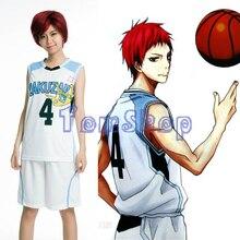 Nouveau Kuroko no Basuke RAKUZAN #4 Akashi Seijuro basket-ball maillot + short ensemble complet Cosplay Costume hommes tenue de sport uniforme