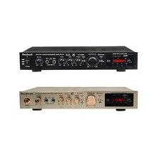 SUNBUCK 200W + 200W 220V FM SD USB Fernbedienung 5 Kanal Bluetooth 4,1 Stereo Digital AV surround Verstärker Karaoke Theater