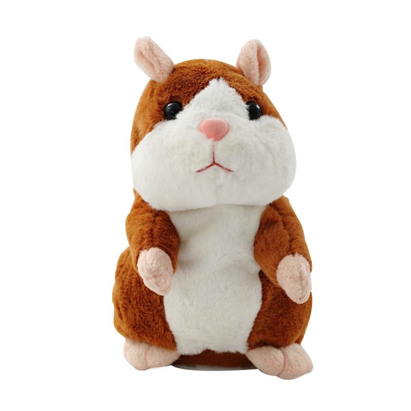 Говорящий хомяк, мышка, Рождественская игрушка, говорящий звук, запись, Обучающие плюшевые игрушки для детей, Рождественский подарок