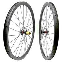 27.5er mtb wheelset AM asymmet 33x30mm disc brake mtb wheels 1423 spokes novatec 791SB/792SB 100X15mm 142x12mm carbon mtb wheels
