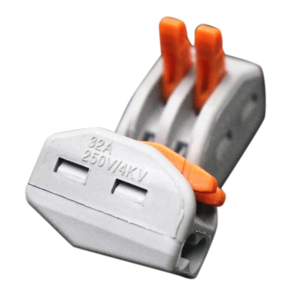 10PCS 222-2 PCT-212 PCT212 Universal Compact Fio Fiação do Conector de 412 pinos Condutor Terminal Block Alavanca