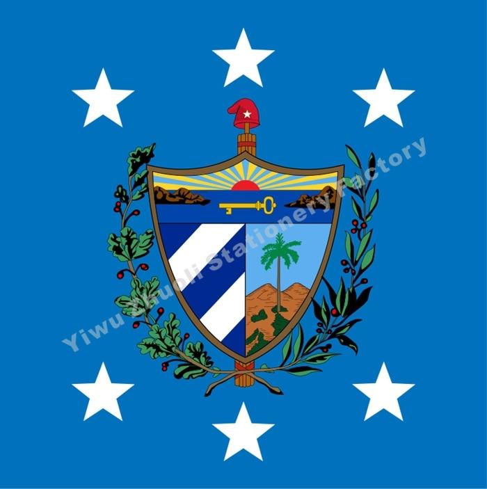 Bandera del Presidente de Cuba 120X120cm (4x4FT) 120g 100D poliéster doble cosido de alta calidad envío gratis