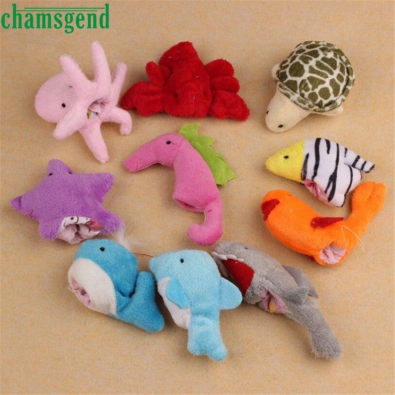 Горячая кукла 10 шт океан мягкие животные куклы девочка мальчик палец игрушки