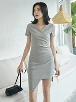 summer dress women sexy mini sundress close fitting v neck party dresses for female bodycon summer clothes 2019 gmz19096