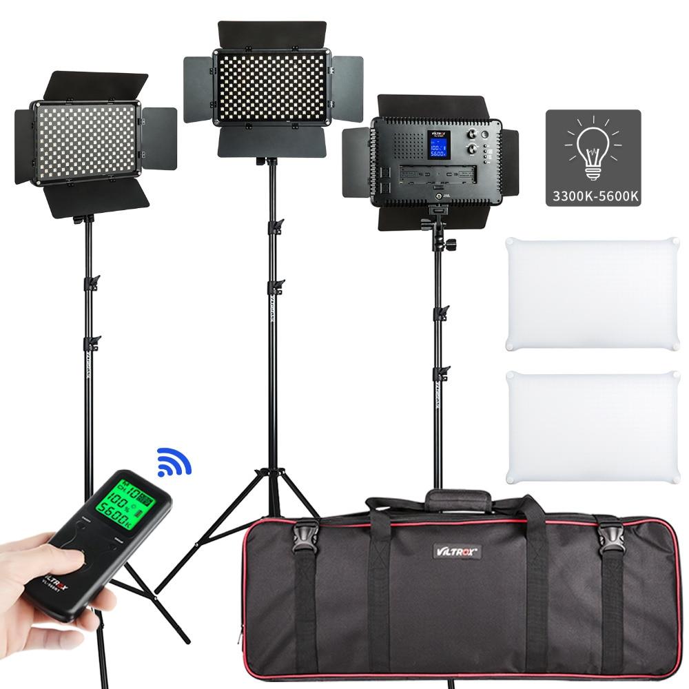 Viltrox 3/2 قطعة VL-S192T 50 واط ثنائية اللون LED الفيديو الضوئي مصباح لاسلكي عن بعد ضوء تقف حقيبة للتصوير الفوتوغرافي استوديو تصوير الفيديو