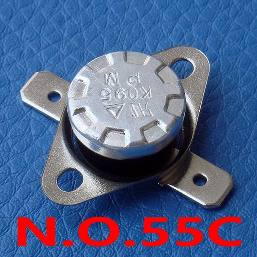 (100 قطعة/الوحدة) 55C KSD301 عادة فتح الحرارة ، مفتاح درجة الحرارة ، لا 55 مئوية ، ثنائية المعدن القرص.