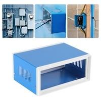 170*130*80mm Blue Metal Enclosure Project Case DIY Junction Box