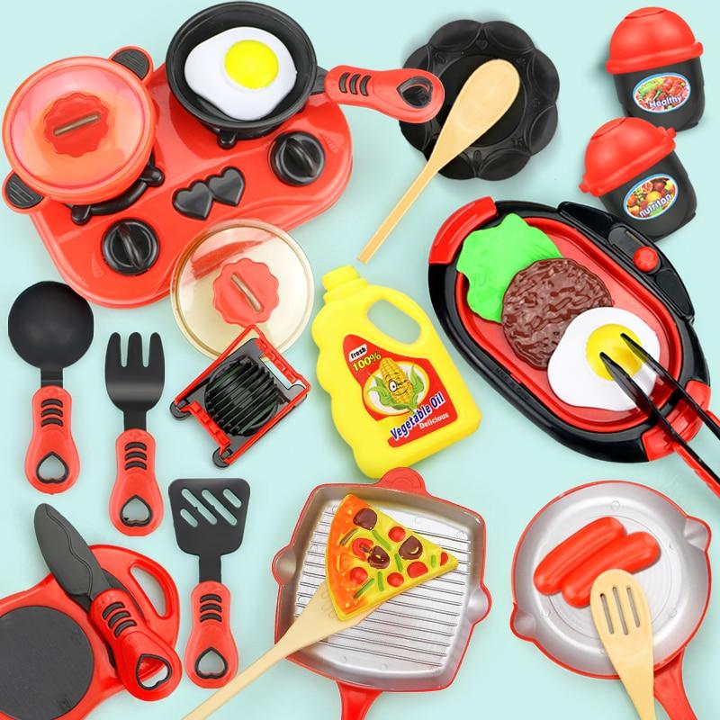 Детский набор миниатюрных игрушек для кухни, имитация еды, кухонная посуда, сковорода, приготовление пищи, игровой домик, игрушка, подарок д...