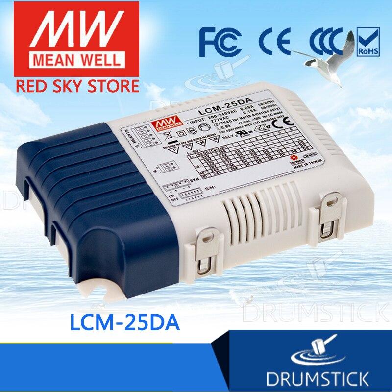 Patriótico MEAN WELL LCM-25DA 50V 500mA meanwell LCM-25DA 25,2 W fuente de alimentación LED de corriente de salida múltiple