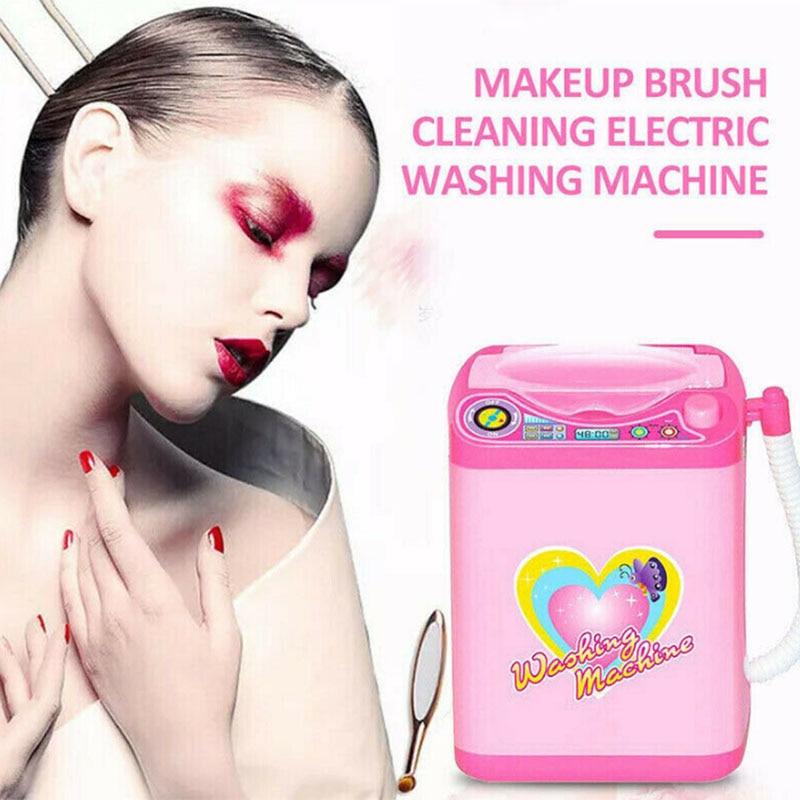 2019 Hot Kids Mini multifunction  Electronic Washing Machine Pre School Play Toy Washer Wash Beauty Sponges SMJ