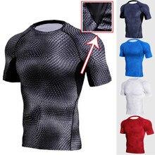 2018 nova cobra manga curta camisa de compressão dos homens de secagem rápida jerseys rashguard homem ginásios roupas de fitness tanque camisetas mma