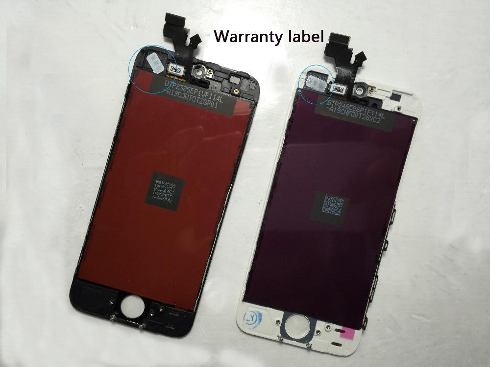 Czarny gwarancja 100% aaa wymiana wyświetlacza dla iphone 5 iphone 5c iphone 5s lcd z ekranem dotykowym digitizer pełna zgromadzenia 12
