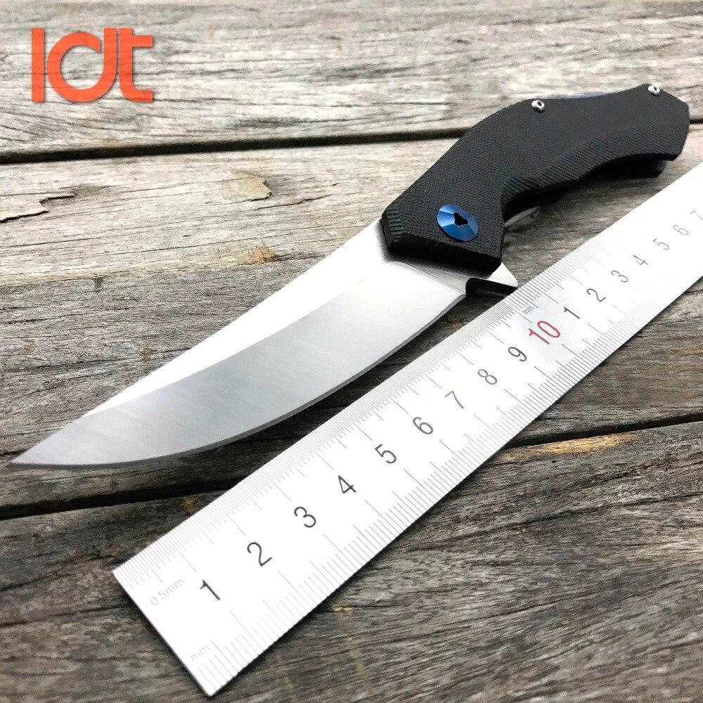 Складной нож LDT Blue Moon D2 Blade G10, тактические ножи с ручкой, охотничий нож для выживания на открытом воздухе, карманный нож для дикого кабана, инструмент для повседневного использования