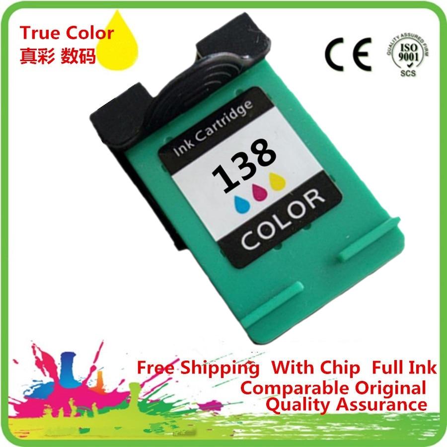 Cartucho de tinta Remanufactured Para 138 138XL PHOTOSMART 2713 7800 7838 7850 8000 8030 8039 8049 8050 8053 8100 8150 8153 8400
