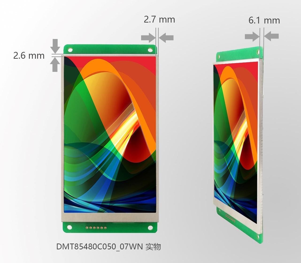 DMT85480C050_07W DMT85480C050_07WN/T DWIN 5 pulgadas serie pantalla dgus II marco estrecho IPS pantalla capacitiva de la pantalla táctil