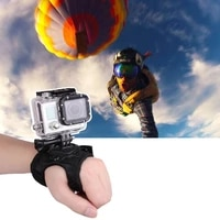 Sports camera accessories 360 degree gloves Tripod Mount Adapter for Gopro palm with rotation palm wrist with hero 5 4 3