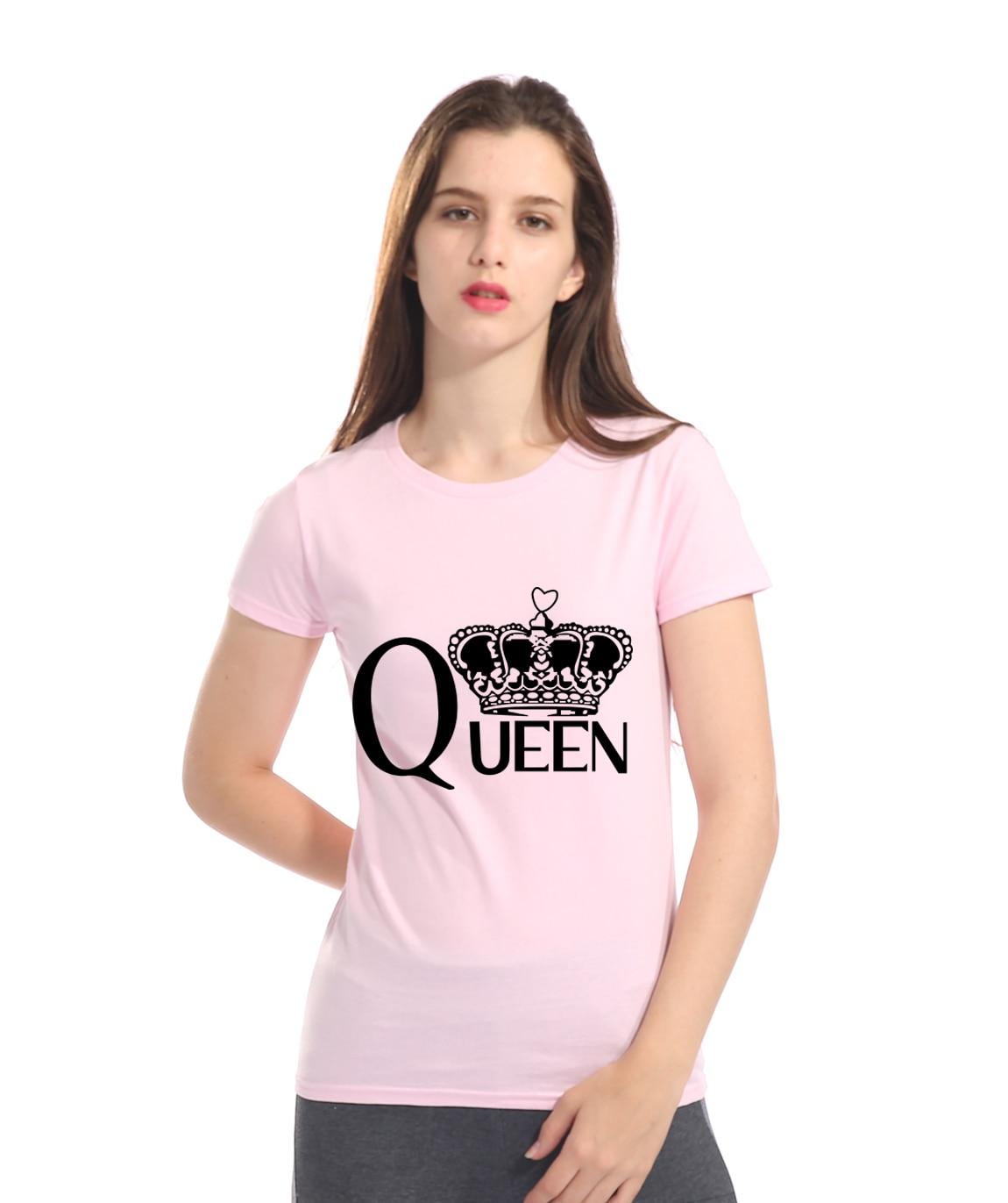 Gran oferta, verano 2018, camiseta de Reina, tops de mujer, camiseta harajuku de algodón de alta calidad, divertida camiseta femenina hip hop, S-XL