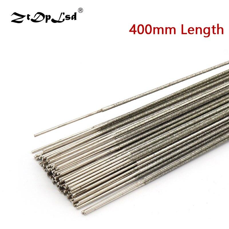 ZtDpLsd 1 Uds 400mm diamante Metal Sierra herramienta de corte cuchillas 1,0mm 1,2mm 1,5mm para Jade ámbar zafiro herramienta