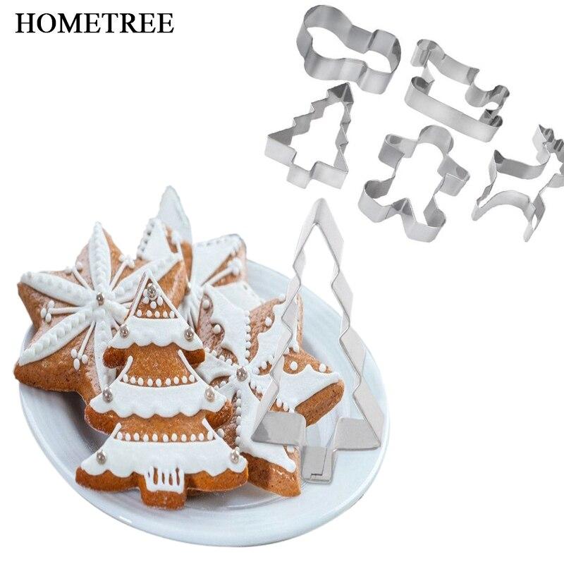 HOMETREE 1 Definir Várias Formas de Cozimento de Aço Inoxidável 430 Bolo de Cortadores de Biscoito de Natal DIY Pastelaria Molde Ferramentas de Cozimento Da Cozinha H425