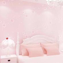 Pink Dandelion Children Room Wall Decoration Wallpaper For Kids Room Bedroom Non-Woven Printed Wallpaper Roll Papel De Parede 3D