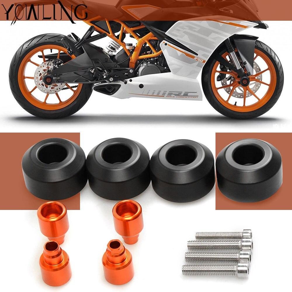Deslizador de armazón de rueda trasero delantero protección para KTM Duke RC 125 200 390 2012 2013 2014 bicicleta de calle de carreras de motocicleta