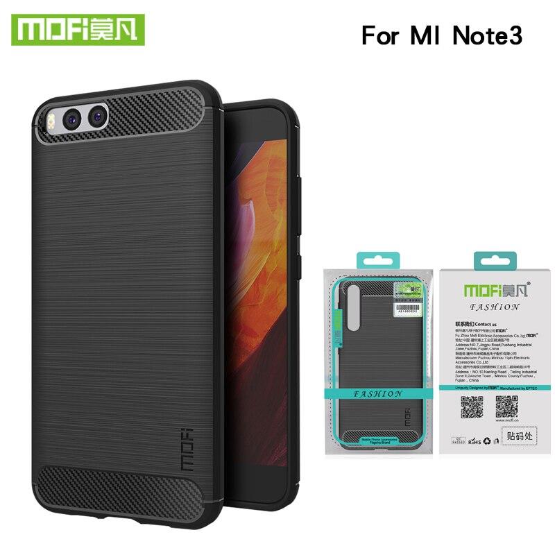 "Funda de fibra de carbono MOfi para xiaomi mi Note 3 5,5 "", funda moderna de silicona suave para xiaomi mi Note3 note 3, fundas para teléfono"