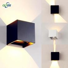 QLTEG 6 W 12 W mur LED lumière extérieure étanche IP65 moderne style nordique intérieur applique salon porche jardin lampe AC90-260V
