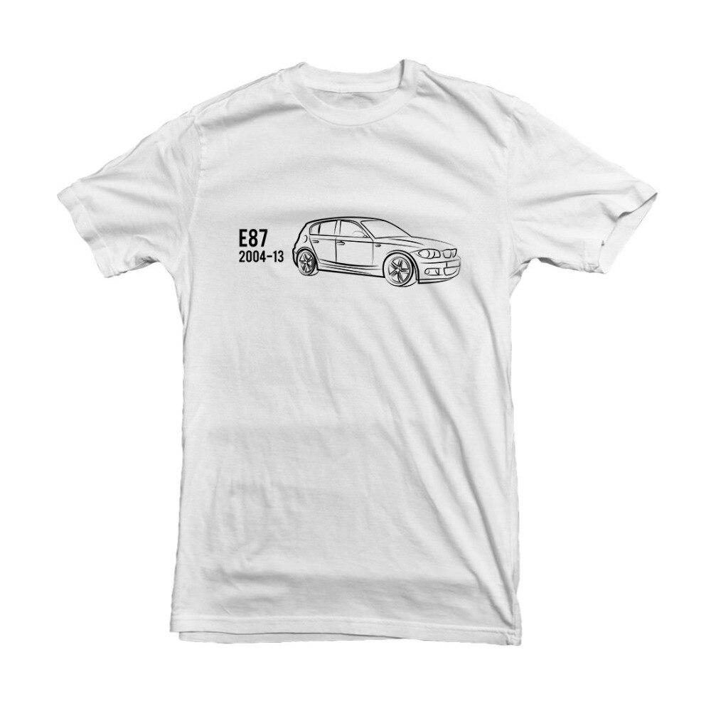 Camiseta con diseño de coche clásico alemán serie E87, Camiseta con estampado gráfico Hd 2019 de algodón para los amantes de los Bimmer