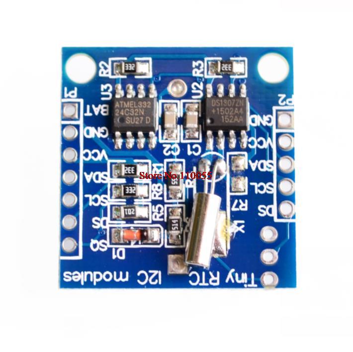 Módulos Tiny RTC I2C 24C32 memoria DS1307 reloj RTC módulo (sin batería) buena calidad precio bajo