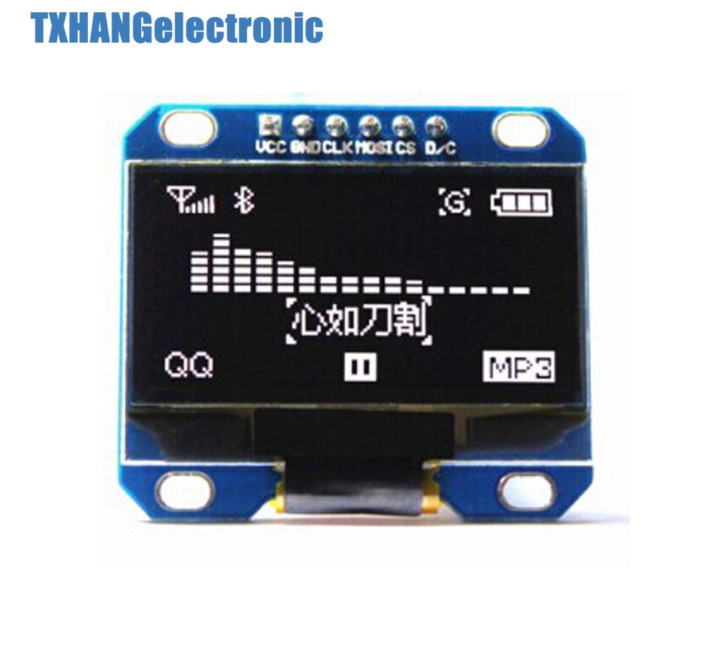 "Blanco 1,3 ""SPI serie 128X64 OLED LCD Módulo de pantalla LED"