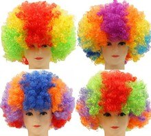 Halloween czapki bożonarodzeniowe kostium włosów peruka Fan piłki nożnej peruka Clown Party pokaż peruki z włosów dla dorosłych dla dzieci kolorowe darmowa wysyłka